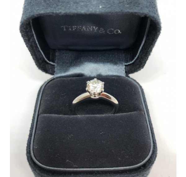 Solitario Tiffany oro blanco y diamante 0,85cts